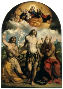 Madonna and Child in glory with saints